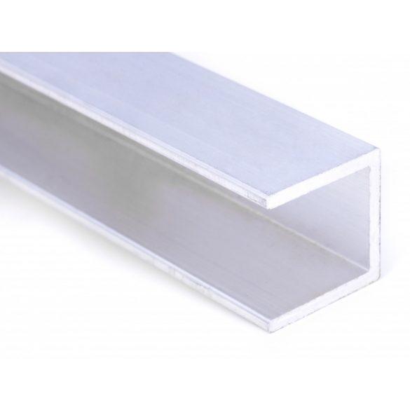 Alu U -profil 16mm polikarbonát lemezhez 600cm-es
