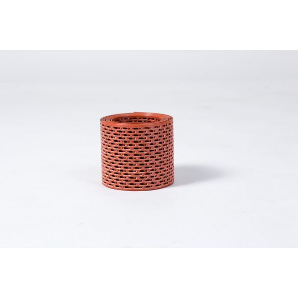 Vörös perforált szellőző szalag 10cm